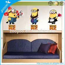zooyoo 3D nursery wall sticker kid wall decal home decor pvc self adhesive alarm me two