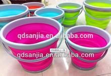 wholesale plastic buckets with lid Plastic Oval Folding Bucket Plastic Foldable Barrel Portable Water Bucket