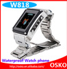 W818 Stainless Steel Waterproof Watch Mobile Phone