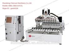 Chencan Brand Type 12 Rotaries Wood CNC Carving Machine