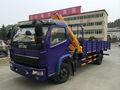 camión con grúa plegable