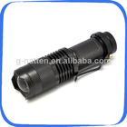 Best Price SIPIK SK68 Cree XP-E Q5 120-Lumen Convex Lens LED Flashlight (1*AA/1*14500)