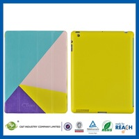 Top Quality Colorful Promotional orange leather wallet cover for ipad air 5 case