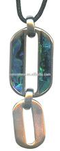 Abalone Shell Pendant Purple/Green Fluorite Necklace Blues round Abalone shell Necklace
