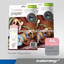 New design inkjet heat transfer photo paper white/dark for cotton t-shirt