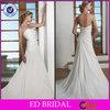 Free Shipping White Chiffon Bare Back Thailand Wedding Dresses 2013