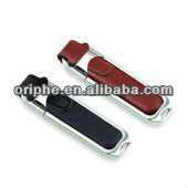 Leather metal edge USB Flash Drive