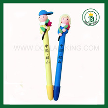 Blue Doll Clay Pen, Soft Polymer Clay Pen
