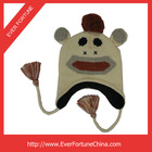2014 Fashion Free Pattern Knitted Animal Monkey Hat for Child