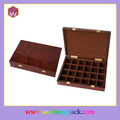 Diseño antiguo de color marrón de madera cuadro de bolsas de té con muchos compartimentos