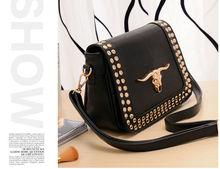 black oranges design bags cow head bags Wholesale leather fashion woman handbag