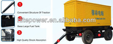 Reboques para geradores com conveniente combustível de entrada