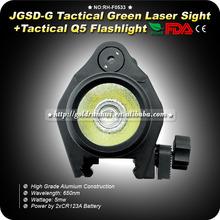 Goldrunhui RH-F0533 Hot Sale Adjustable Green Laser Sight Designator/Illuminator/Flashlight W/Weaver Mount