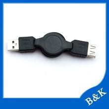 Good quality metal retract usb mini mouse with retractable cable