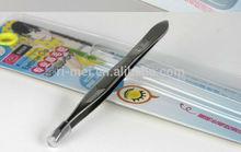 flat blade stainless steel eyebrow tweezers