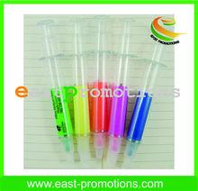 syringe highlighter pen for promotion , novelty Funny injection highlighter pen