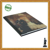 Photo album glass hard cover printing /Unforgettable memory for marriage photos