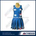 grado superior de netball personalizado falda vestido baloncesto
