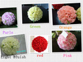2014 barato por atacado bola flor artificial, beijar flor bola, suspensão bola flor