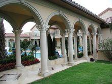 Royal castle design natural stone large building & decoration dtone pillars
