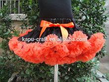 Fluffy halloween petti skirt for children