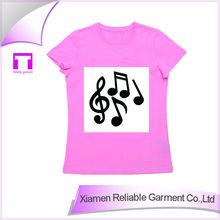 100% cotton new style fashion hot sale fashion girl t-shirt