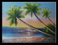 มะพร้าวต้นไม้ภาพวาดบนผืนผ้าใบที่ทำด้วยมือใหม่jh-3992014