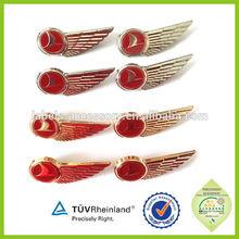 cap uniform pin metal wing airlines badge