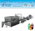 Automática de bebidas carbonatadas línea de embotellado/línea de bebidas carbonatadas