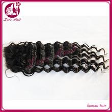 4x4 size full lace closure unprocessed 100% mongolian virgin hair wholesale virgin remy Hair deep wave Closure