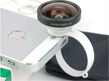 Self Shot clip 0.4X Super Wide Angle Lens for iPhone 5 iPhone 4S/4 GALAXY S4 SIII S3