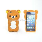 3d rilakkuma bear silicone case for iphone 5 5s
