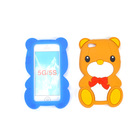 3d teddy bear silicone mobile phone case for iphone 4 4s wholesale