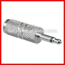 Metal 2.5mm mono plug to 3.5 mono / stereo jack