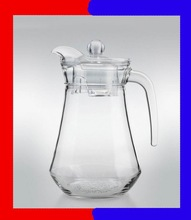 clear glass water pitcher