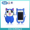 blu soft silicon cartoon cat cell phone case for iphone 5