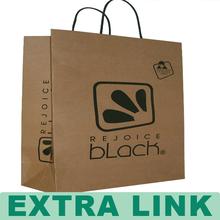 Customized Logo Hot Stamping Folded Kraft Paper Shirt Packaging Shopping Bag