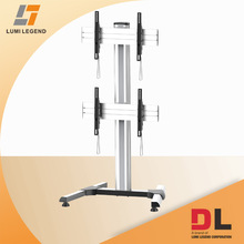 Dual screens modular video wall stand with steady feet base fit for 45-55 inch TV