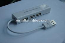 2014 hot selling usb 2.0 network card 1 port+3 port Female RJ45 Ethernet Lan Adapter card