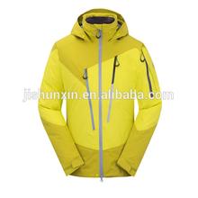 New Style Performance breathable waterproof yellow windbreak ski wear