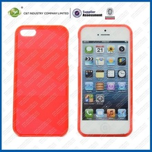 Ultra thin transparent colorful tpu case cover for iphone 5c