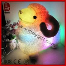 Best Selling 2014 Plush Goat with Light Soft Stuffed Plush Farm Animal Valentine Day Gift Plush Toy