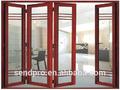 2014 venta caliente moderno puerta plegable de aluminio puertas