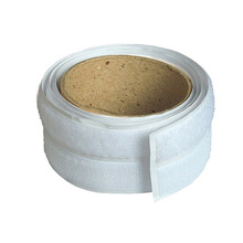 White glue backed hook and loop adhesive velcro tape