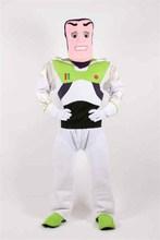 2014 directa de la fábrica de adultos de la marca nueva de buzz lightyear de dibujos animados anime de halloween mascota traje traje de fiesta de lujo de cosplay traje de vestir