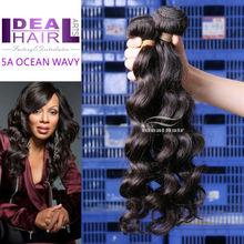 Brazilian natural human hair 5A unprocessed wavy style brazlian virgin hair extension