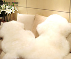 factory outlet cheap price best-selling anti-slip sheep skin rug, plush long hair raw goat skins