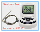 2014 digital countdown timer & probe pin thermometer & 24 hours clock DTH-65