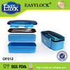 Food grade bread plastic bento box double layer 2014