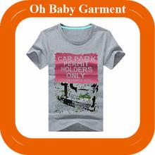 custom polyester/cotton cheap printed grey o-neck short sleeve mens t shirt
